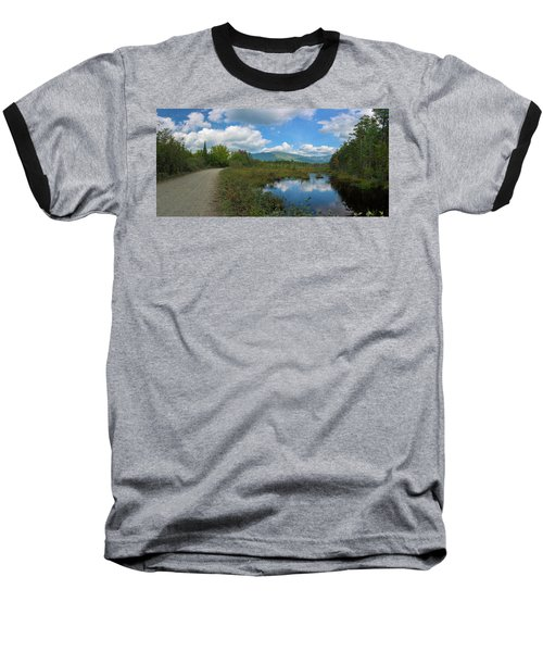 Katahdin In The Clouds Baseball T-Shirt