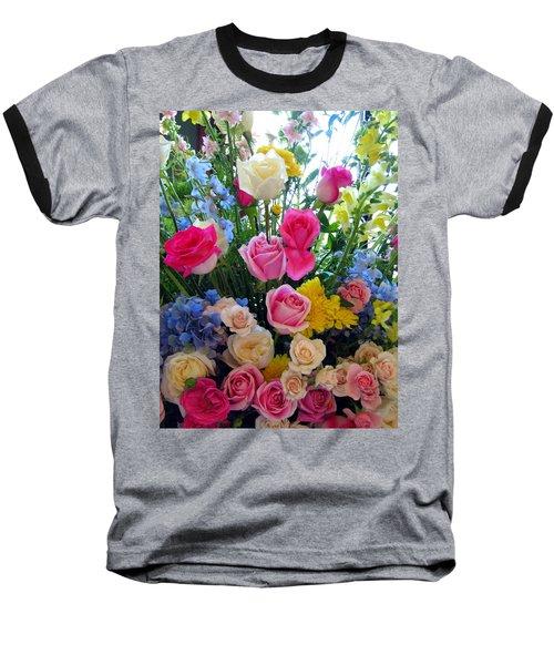 Kate's Flowers Baseball T-Shirt