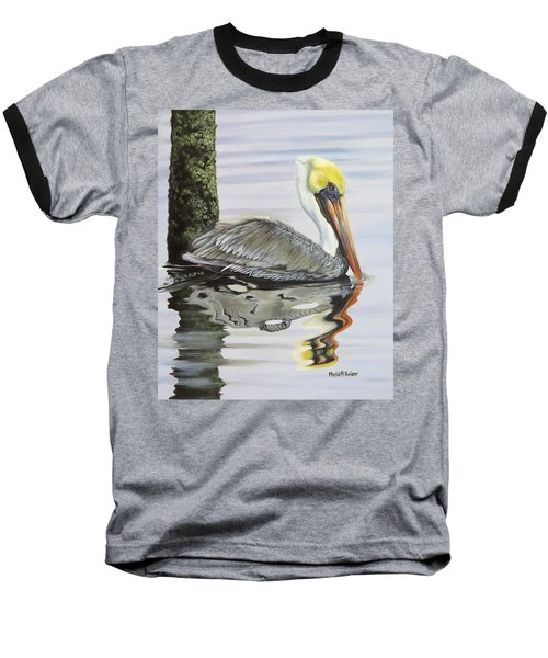Kathy's Pelican Baseball T-Shirt by Phyllis Beiser