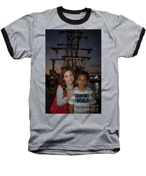 Baseball T-Shirt featuring the photograph Katy And Baby James Art by Reid Callaway