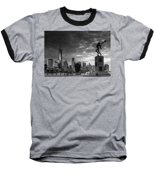Baseball T-Shirt featuring the photograph Katyn New World Trade Center In New York by Ranjay Mitra