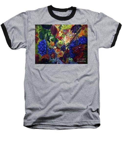 Katy's Grapes Baseball T-Shirt by Donna Walsh