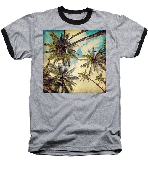Kauai Island Palms - Blue Hawaii Photography Baseball T-Shirt
