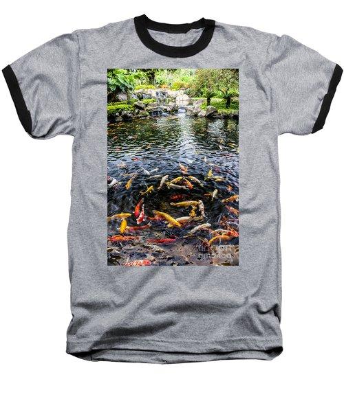 Kauai Koi Pond Baseball T-Shirt by Darcy Michaelchuk