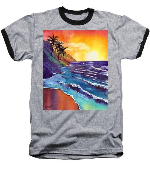Kauai Na Pali Sunset Baseball T-Shirt