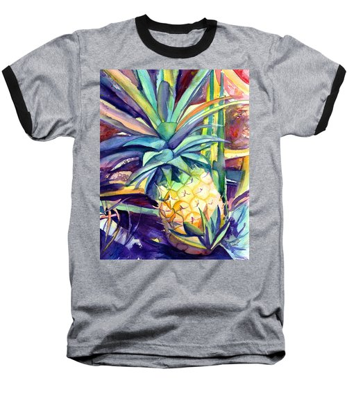 Kauai Pineapple 4 Baseball T-Shirt
