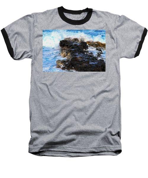 Kauai Rock Splash Baseball T-Shirt