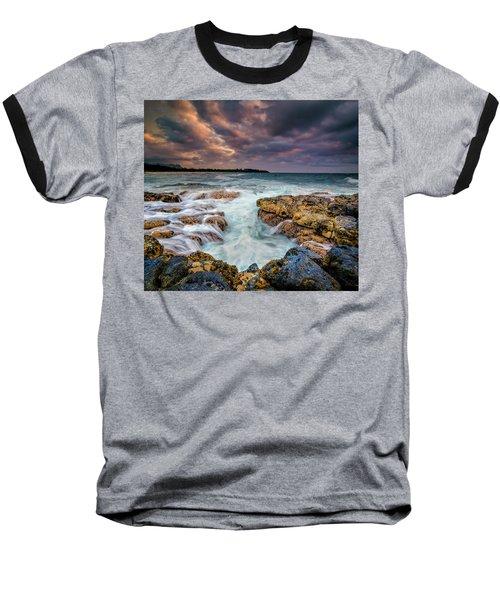 Kauai Ocean Rush Baseball T-Shirt