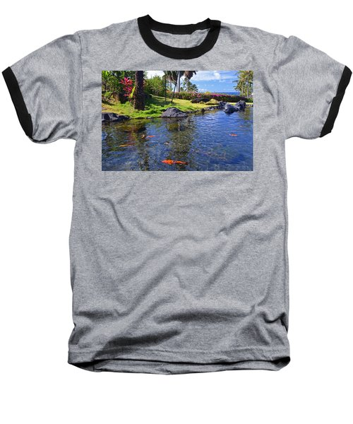 Kauai Serenity Baseball T-Shirt by Marie Hicks