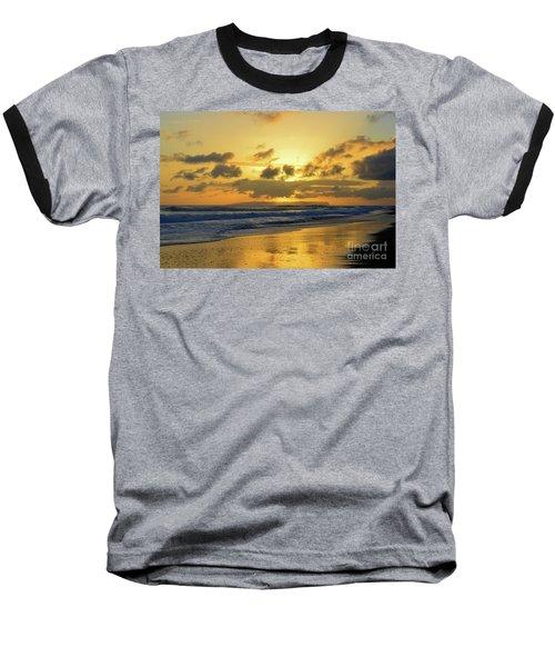 Kauai Sunset With Niihau On The Horizon Baseball T-Shirt