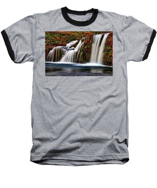 Baseball T-Shirt featuring the photograph Kay Falls by Scott Mahon