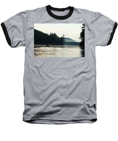 Kayak In The Fog Baseball T-Shirt