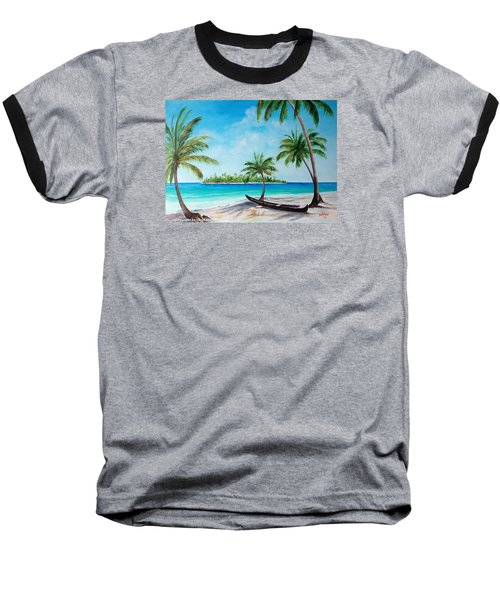 Kayak On The Beach Baseball T-Shirt