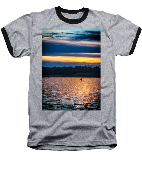 Kayak Sunset Baseball T-Shirt