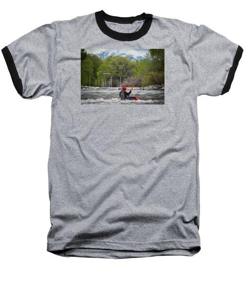 Kayaker On The Arkansas Baseball T-Shirt