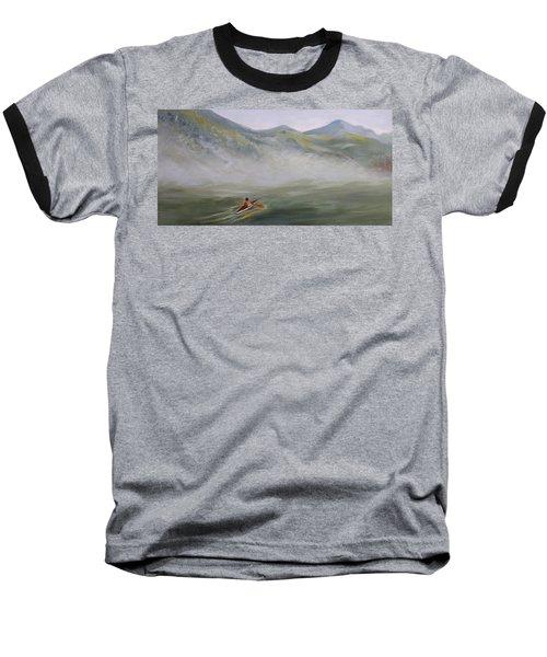 Kayaking Through The Fog Baseball T-Shirt