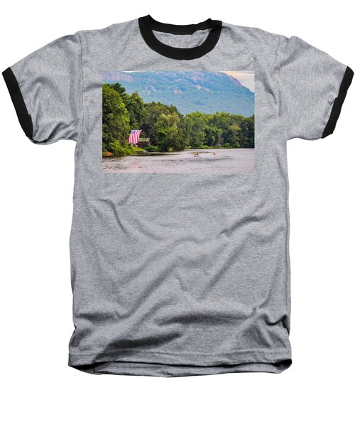 Kayaking On Nashawannuck Pond Easthampon Baseball T-Shirt