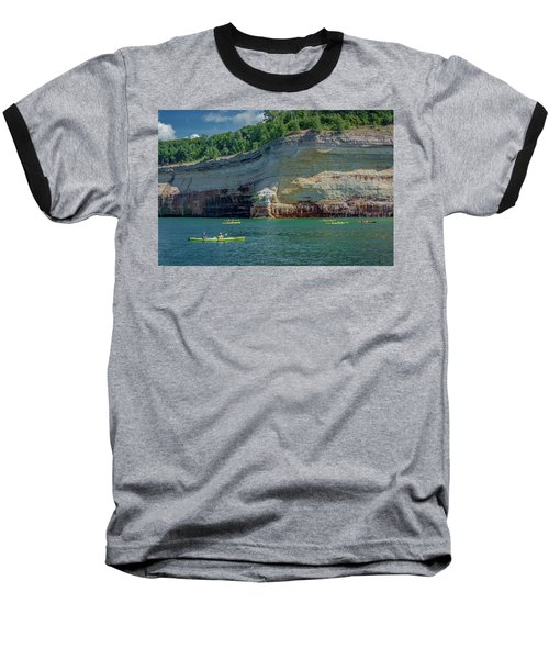 Kayaking The Pictured Rocks Baseball T-Shirt
