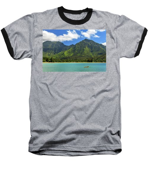 Kayaks In Hanalei Bay Baseball T-Shirt