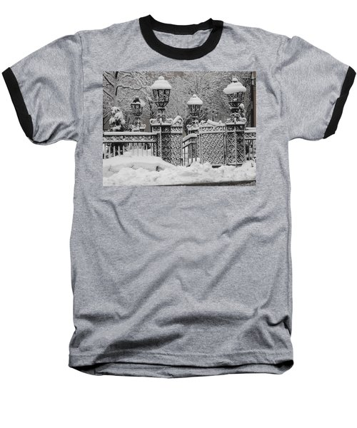 Kc Plaza Is Art In The Snow Baseball T-Shirt