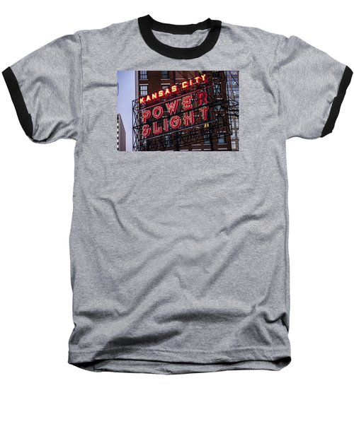 Baseball T-Shirt featuring the photograph Kc Power And Light by Jim Mathis