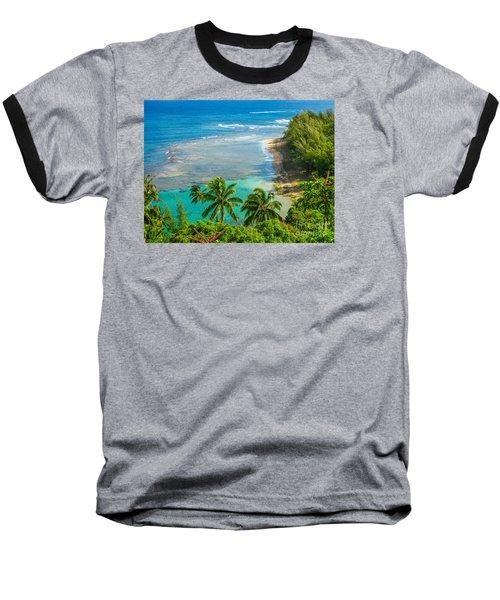Kee Beach Kauai Baseball T-Shirt