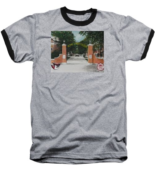 Baseball T-Shirt featuring the painting Keene State College by Jack Skinner