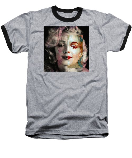 Baseball T-Shirt featuring the painting Keep Me Safe Lie With Me Stay Beside Me Don't Go by Paul Lovering