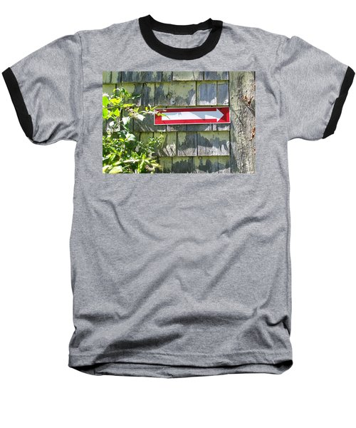 Baseball T-Shirt featuring the digital art Keep To The Right by Barbara S Nickerson