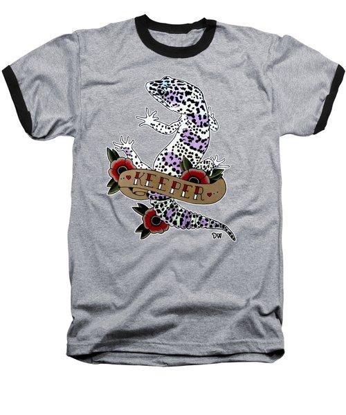 Keeper Leopard Gecko Baseball T-Shirt
