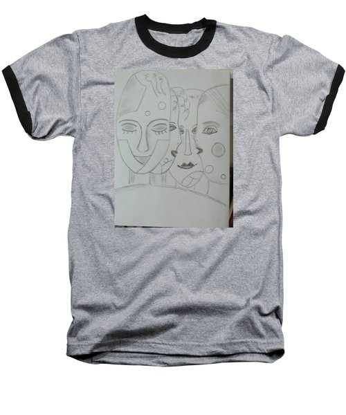Baseball T-Shirt featuring the drawing Keeper Of Secrets by Sharyn Winters