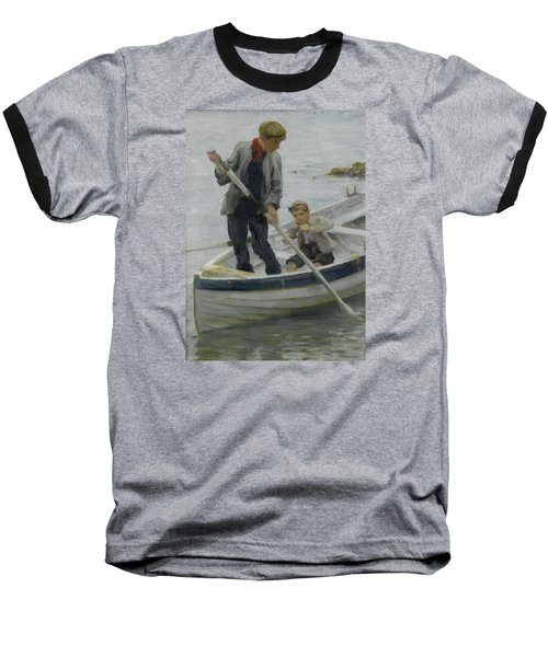 Keeping Her Off Baseball T-Shirt by Henry Scott Tuke