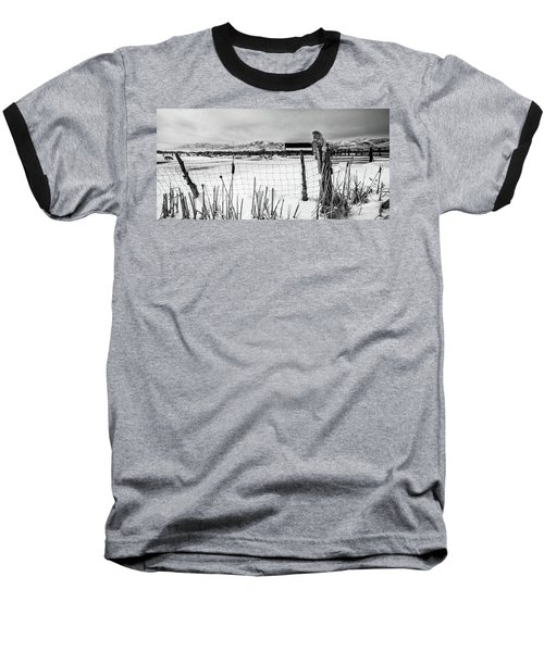 Keeping Watch Black And White Baseball T-Shirt