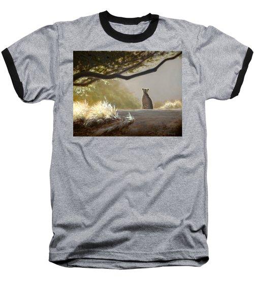 Keeping Watch - Cheetah Baseball T-Shirt