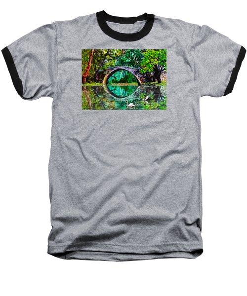 Kefalos Bridge Cyprus Baseball T-Shirt by Michele Avanti