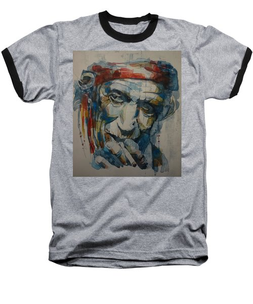 Keith Richards Art Baseball T-Shirt