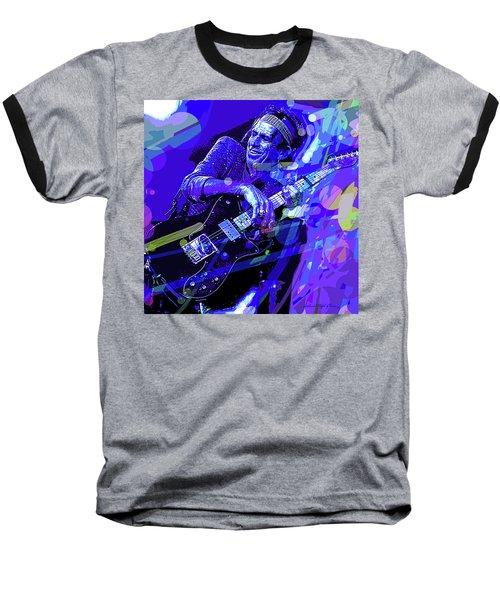 Keith Richards Blue Baseball T-Shirt