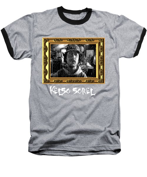 Baseball T-Shirt featuring the painting Kelso Sorel by Chief Hachibi