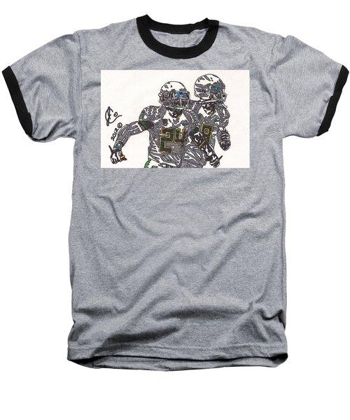 Kenjon Barner And Marcus Mariota Baseball T-Shirt by Jeremiah Colley