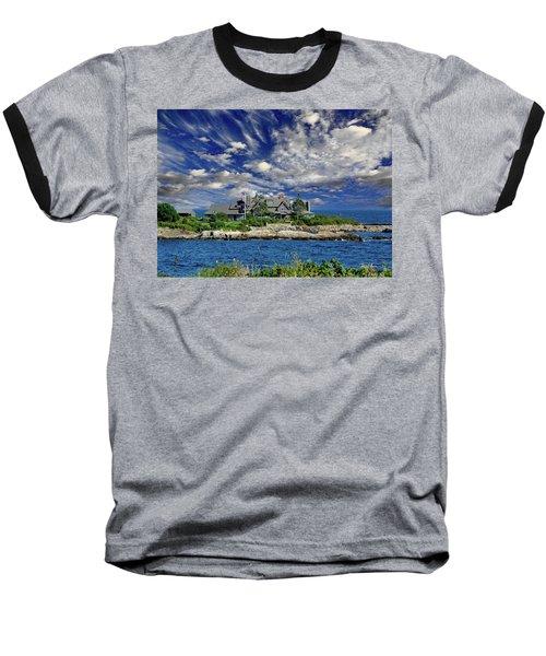 Kennebunkport, Maine - Walker's Point Baseball T-Shirt by Russ Harris