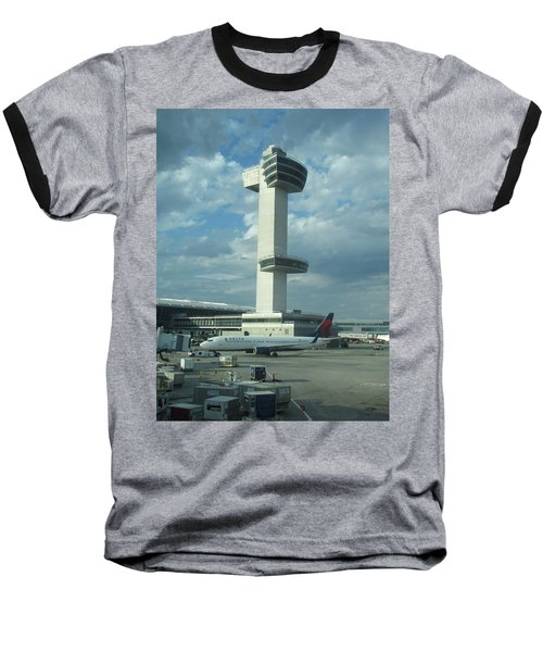 Kennedy Airport Control Tower Baseball T-Shirt