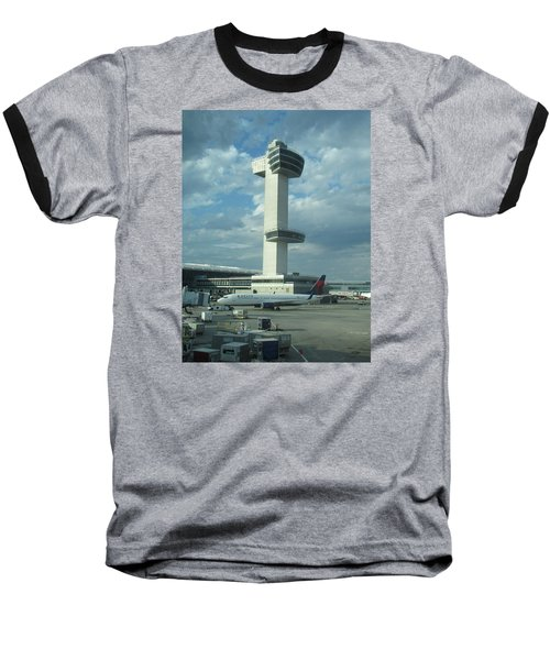 Kennedy Airport Control Tower Baseball T-Shirt
