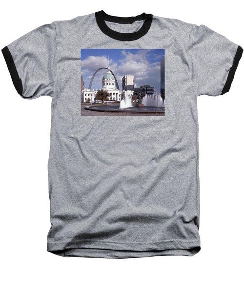 Kiener Plaza - St Louis Baseball T-Shirt by Harold Rau