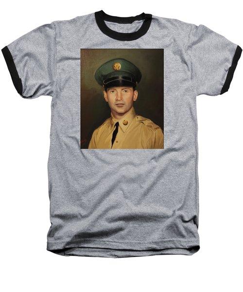Baseball T-Shirt featuring the painting Kenneth Beasley by Glenn Beasley