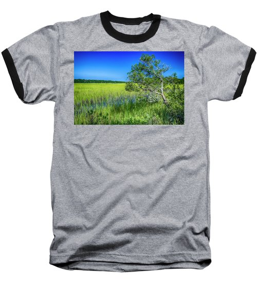 Kent Mitchell Nature Trail, Bald Head Island Baseball T-Shirt