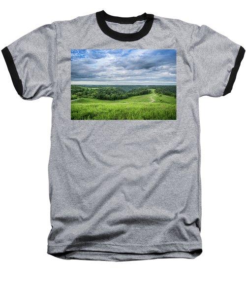 Kentucky Hills And Clouds Baseball T-Shirt