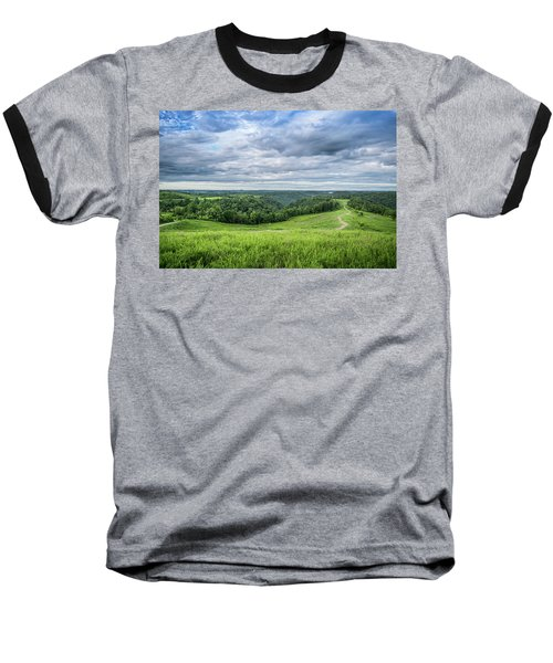 Kentucky Hills And Clouds Baseball T-Shirt