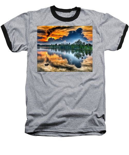 Kentucky Sunset June 2016 Baseball T-Shirt by Sumoflam Photography