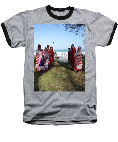 Kenya Wedding On Beach Maasai Bridal Welcome Baseball T-Shirt