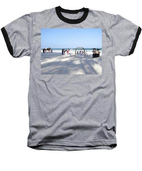 Kenya Wedding On Beach Wide Scene Baseball T-Shirt by Exploramum Exploramum